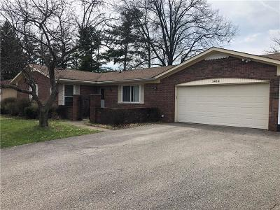 Indianapolis Single Family Home For Sale: 1416 Wellington Avenue