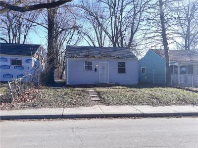 Indianapolis Single Family Home For Sale: 2841 Adams Street