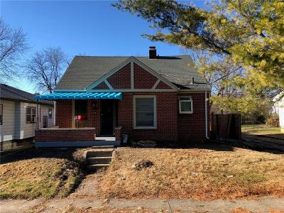 Indianapolis Single Family Home For Sale: 1114 North Gladstone Avenue