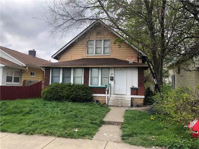 Indianapolis Single Family Home For Auction: 30 North Oakland Avenue