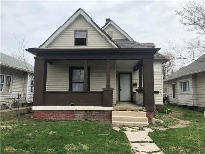 Indianapolis Multi Family Home For Sale: 1721 North Oxford Street