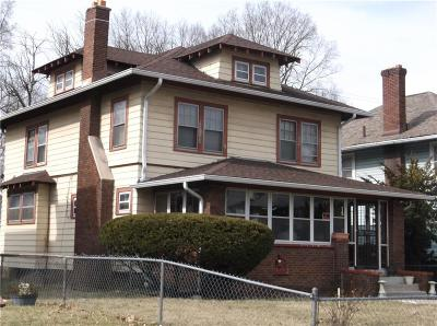 Indianapolis Single Family Home For Sale: 3328 North Broadway Street