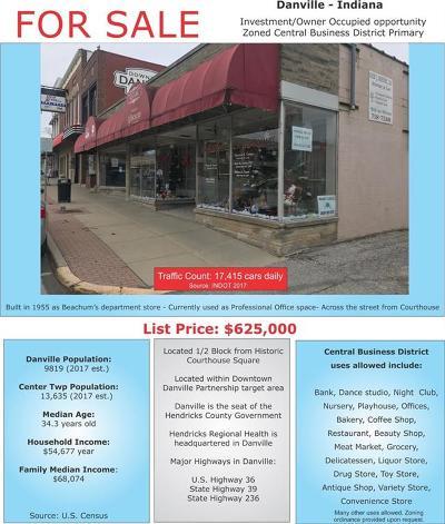 Danville Commercial For Sale: 52 West Main Street