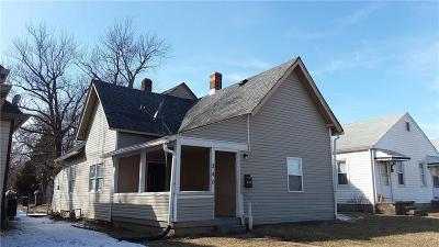 Indianapolis Single Family Home For Sale: 240 South Lasalle Street