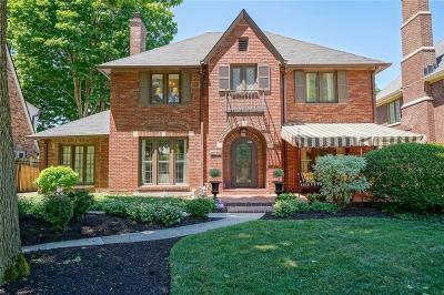 Indianapolis Single Family Home Sold: 5878 North Washington Boulevard