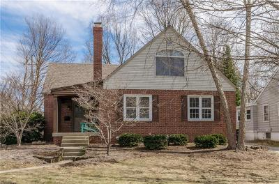 Indianapolis Single Family Home For Sale: 6279 North Delaware Street