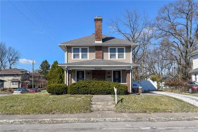 Indianapolis Multi Family Home For Sale: 3402 Carrollton Avenue