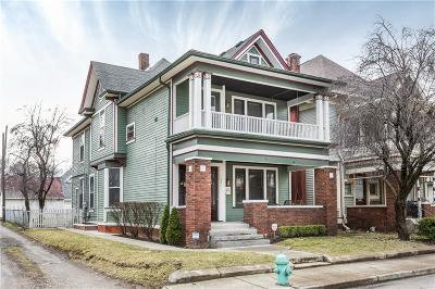 Indianapolis Multi Family Home For Sale: 1821 North Delaware Street