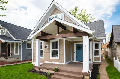 Indianapolis Single Family Home For Sale: 714 Terrace Avenue