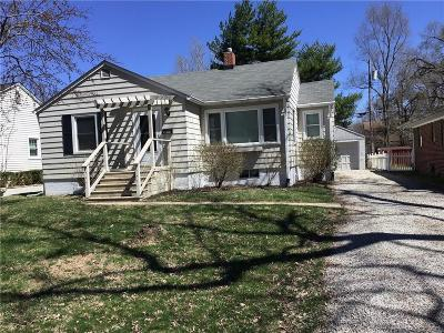 Indianapolis Single Family Home For Sale: 5739 Kingsley Drive