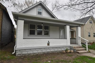 Indianapolis Single Family Home For Sale: 1337 Union Street