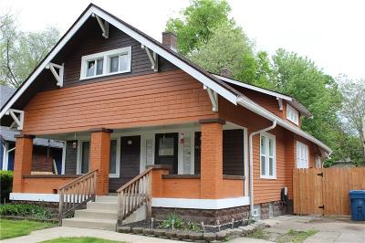 Indianapolis Single Family Home For Sale: 4617 Guilford Avenue