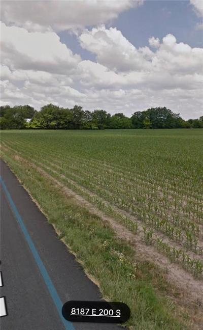 Zionsville Residential Lots & Land For Sale: 8001,8187 East 200 S