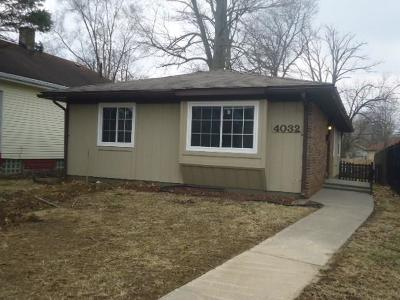 Indianapolis Single Family Home For Sale: 4032 Rookwood Avenue