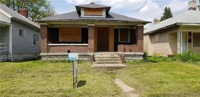 Indianapolis Single Family Home For Sale: 1320 West 25th Street