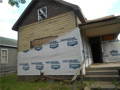 Indianapolis IN Single Family Home For Auction: $85,000