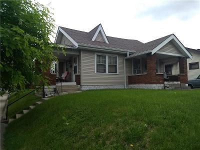 Indianapolis Single Family Home For Sale: 1001 Wallace Avenue