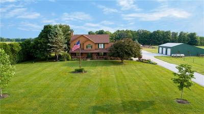 Coatesville Single Family Home For Sale: 7638 West County Road 600 S