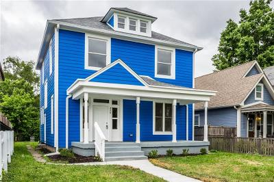 Indianapolis Single Family Home For Sale: 826 North Jefferson Avenue