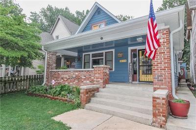 Indianapolis Single Family Home For Sale: 1409 East Lexington Avenue