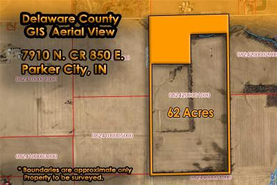 Delaware County Residential Lots & Land For Sale: 7910 North County Road 850 E