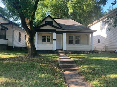 Indianapolis IN Single Family Home For Sale: $32,000