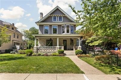 Indianapolis Single Family Home For Sale: 872 Woodruff Place East Drive