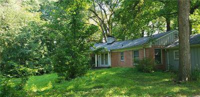 Indianapolis Single Family Home For Sale: 8001 Oak Hill Drive