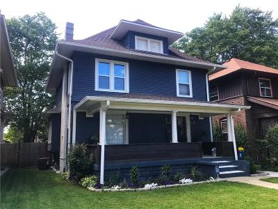 Single Family Home For Sale: 3618 North Pennsylvania Street