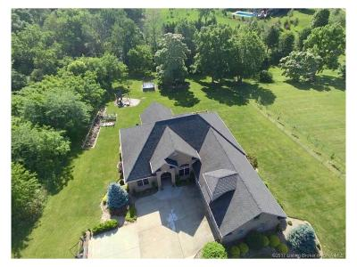 Floyd County Single Family Home For Sale: 5714 S Skyline Drive