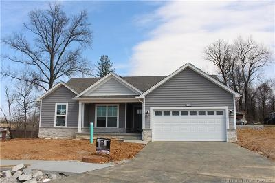 Jeffersonville Single Family Home For Sale: 3808 - Lot 105 Carnation Court