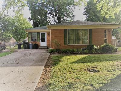 Jeffersonville IN Single Family Home For Sale: $95,000