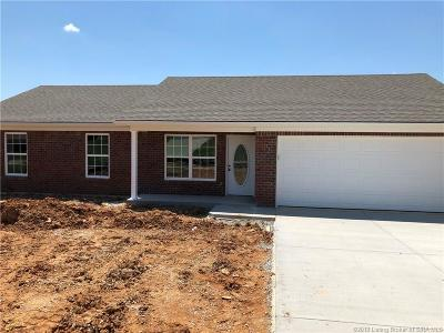 Jeffersonville Single Family Home For Sale: 2811 Horse Trail (Lot #224) Road