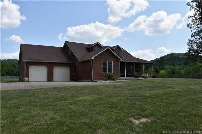 Scott County Single Family Home For Sale: 1861 W County Line Road