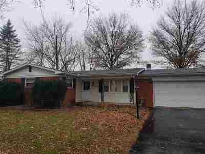 Terre Haute IN Single Family Home For Sale: $89,900