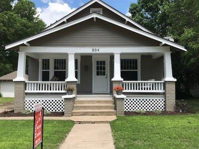 Abilene Single Family Home For Sale: 804 West 1st Street
