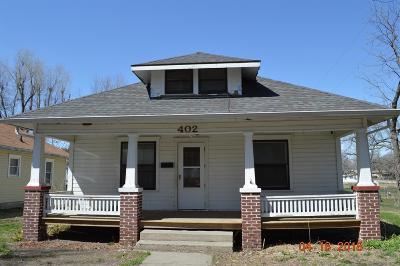Herington Single Family Home For Sale: 402 East Wyatt