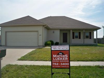 Junction City Single Family Home For Sale: 2009 Thompson Drive