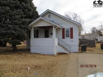 Pratt KS Single Family Home For Sale: $68,000
