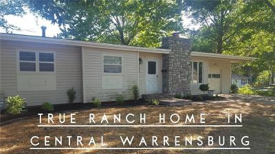 Warrensburg MO Single Family Home For Sale: $135,000