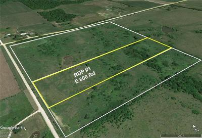 Douglas County Residential Lots & Land For Sale: Rdp #1 E 600th Road