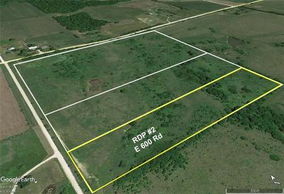 Douglas County Residential Lots & Land For Sale: Rdp #2 E 600th Road