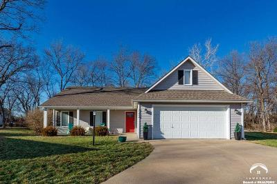 Lawrence KS Single Family Home Under Contract: $205,000