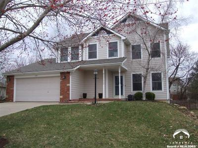 Lawrence Single Family Home Under Contract: 4208 Wheat State St