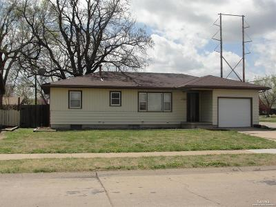 Salina KS Single Family Home Under Contract: $120,000