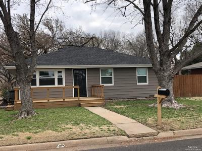 Salina Single Family Home Under Contract: 1603 Rush Street
