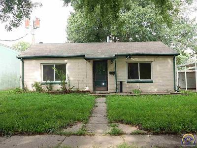 Topeka KS Single Family Home For Sale: $36,250