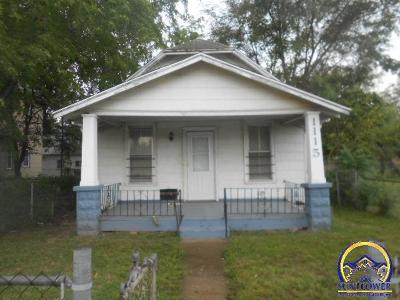 Topeka KS Single Family Home For Sale: $9,900