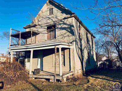 Topeka KS Single Family Home For Sale: $12,500