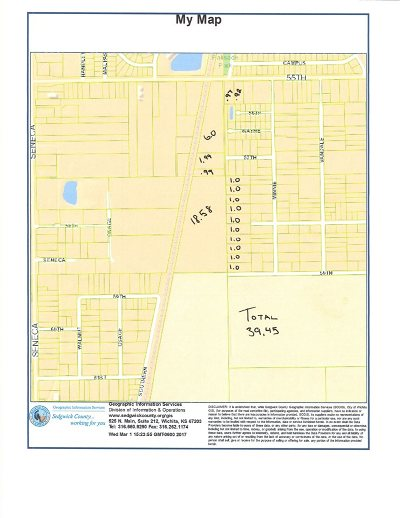 Wichita Residential Lots & Land For Sale: W 55th St S